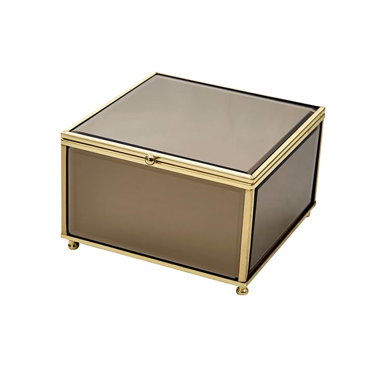Caja de cristal marrón