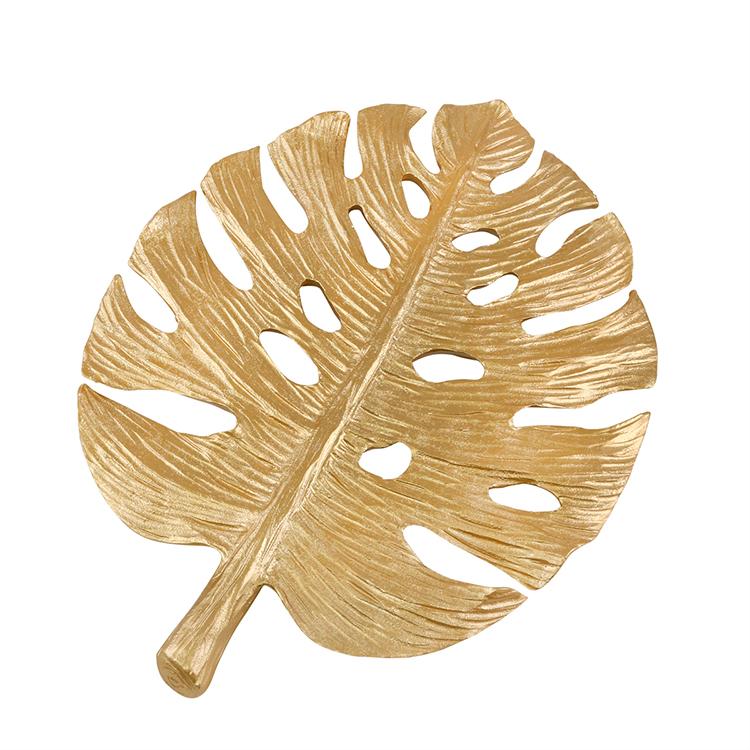 Decorativo de Hoja de platano dorada