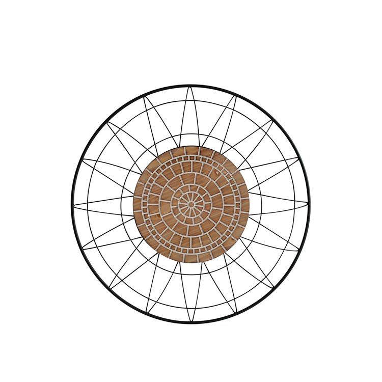 Decorativo de madera y metal redondo III