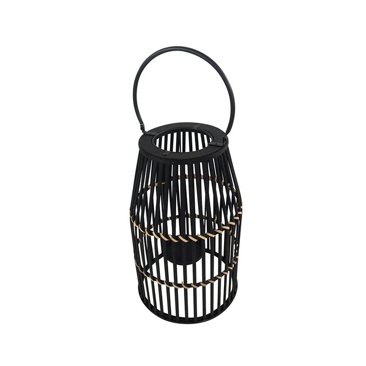 Linterna negra de bamboo I