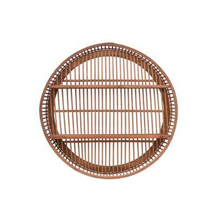 Repisa de madera circular