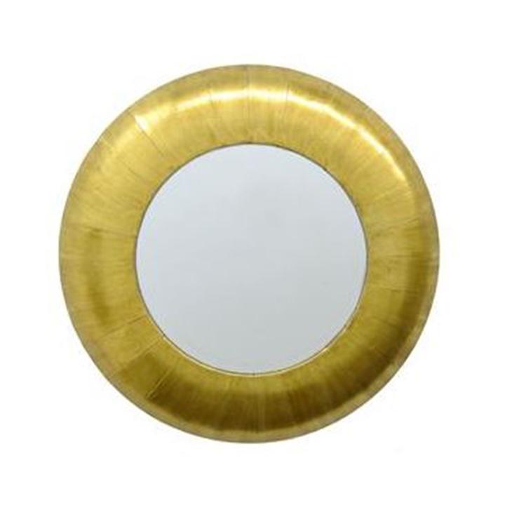 Espejo dorado redondo