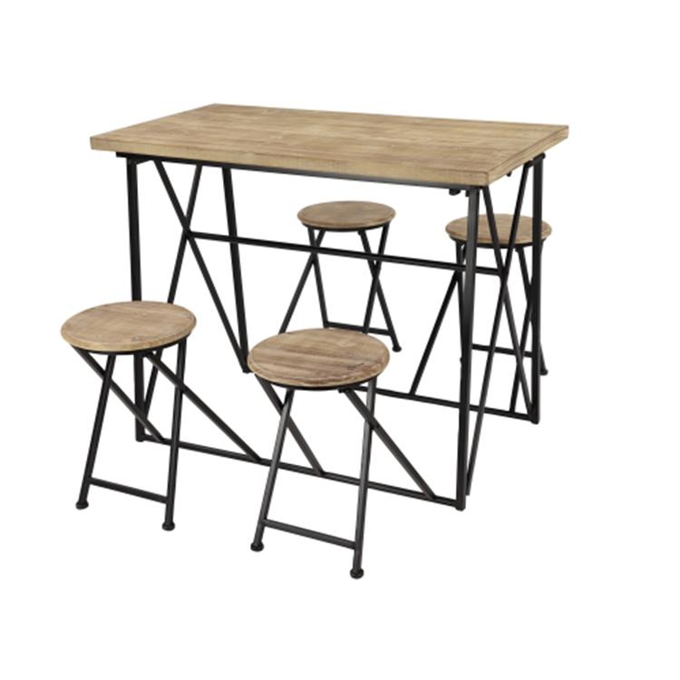 Mesa con bancos