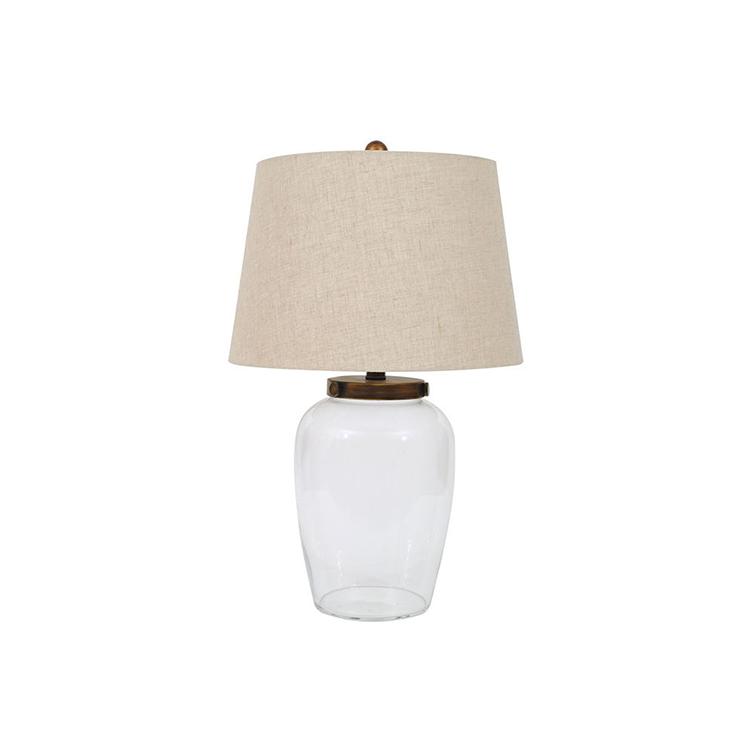 Lámpara de cristal con bronce