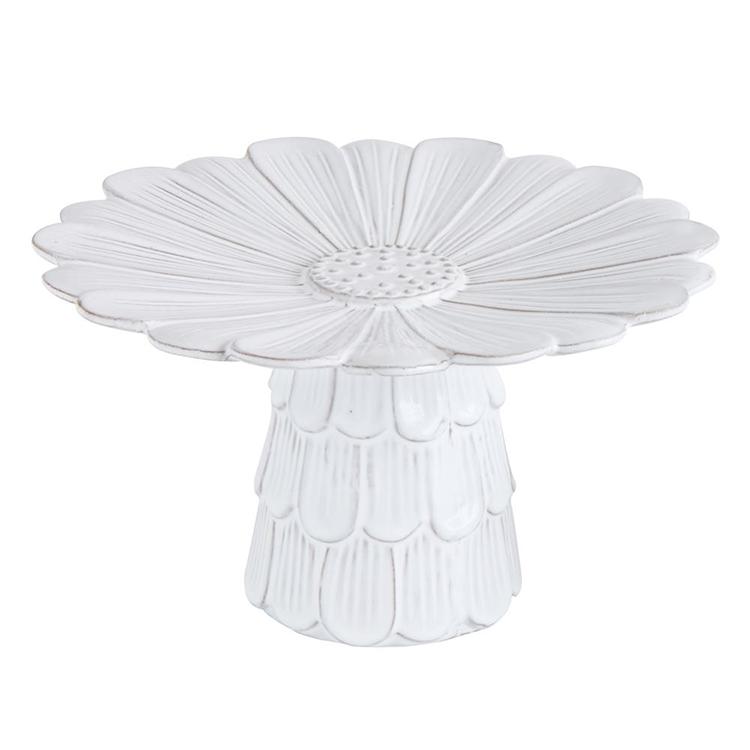 Pedestal de Flor blanco