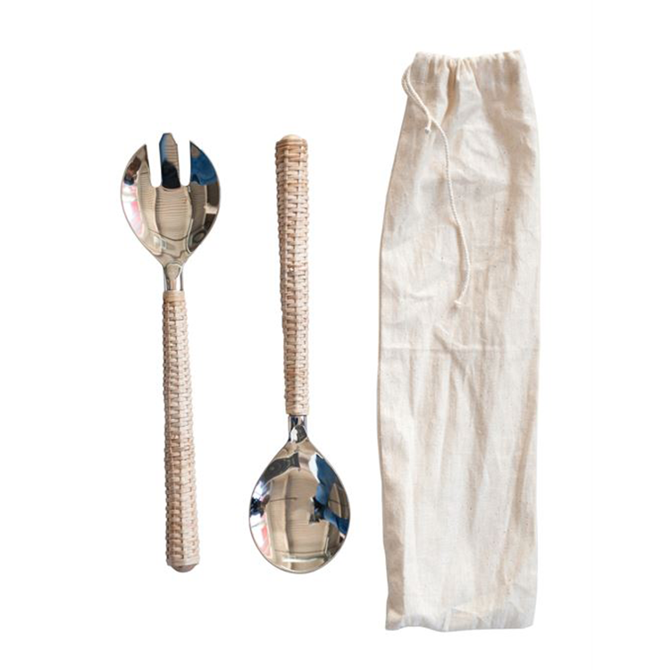 Cubiertos para ensalada de Bambú