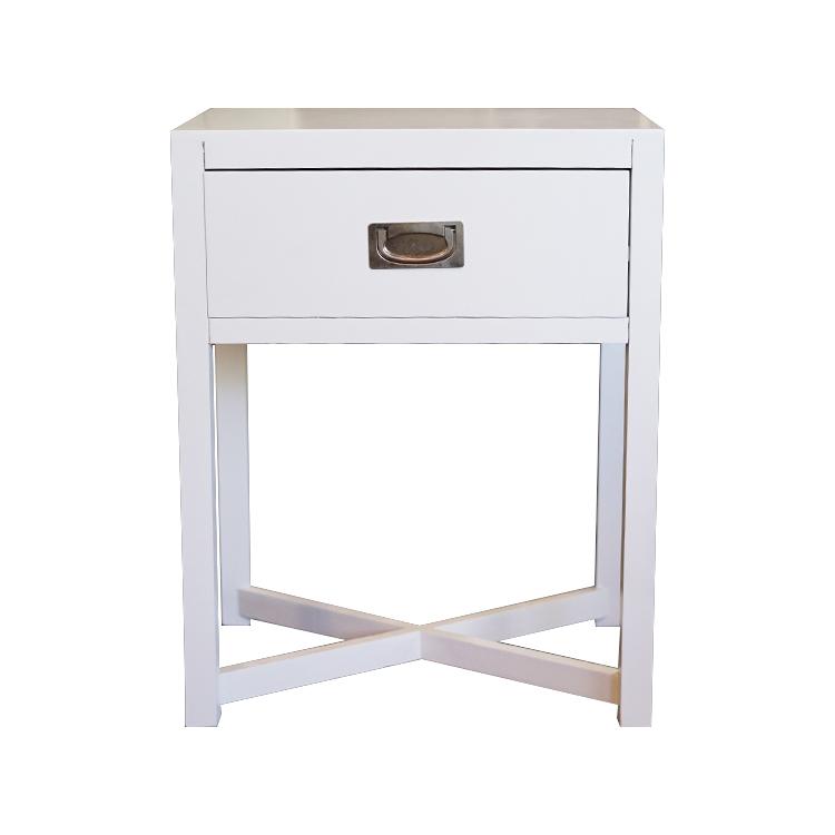 Mesa de noche blanca