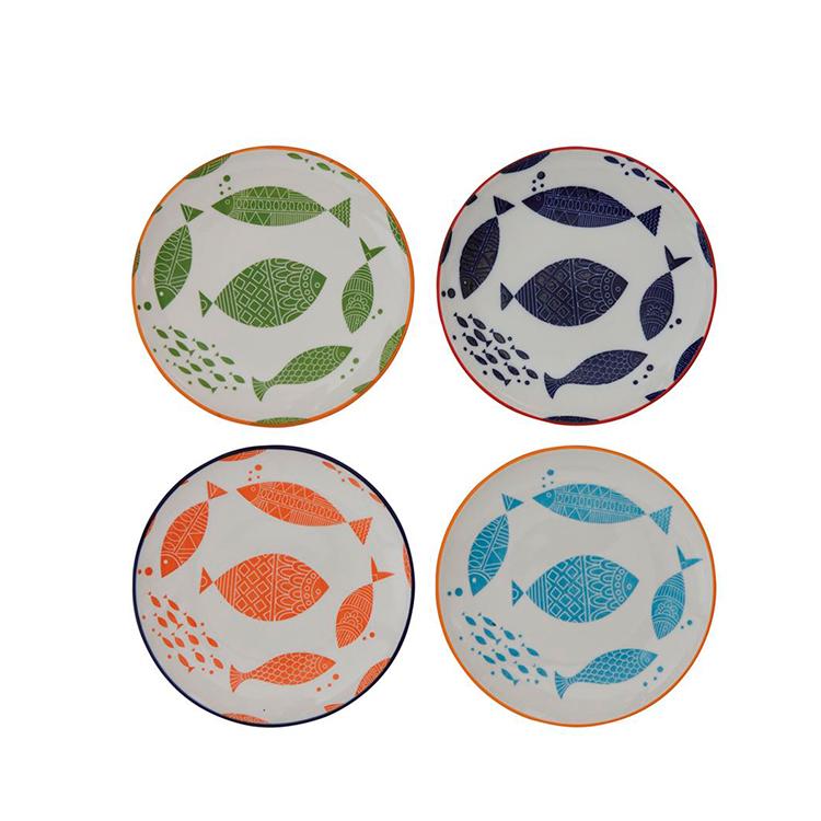 Plato de Peces en 4 colores